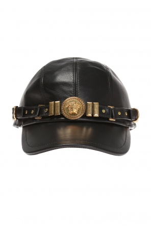 Leather baseball cap od Versace