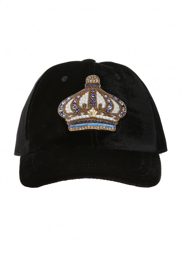 3b372d86431 Appliqued baseball cap Versace - Vitkac shop online