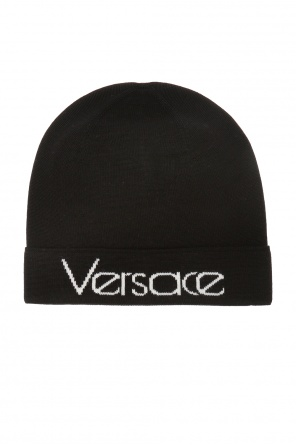 Logo-embroidered hat od Versace