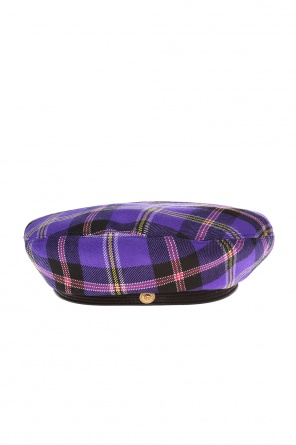 Checkered hat od Versace