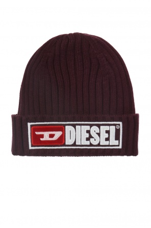 Ribbed hat with logo od Diesel
