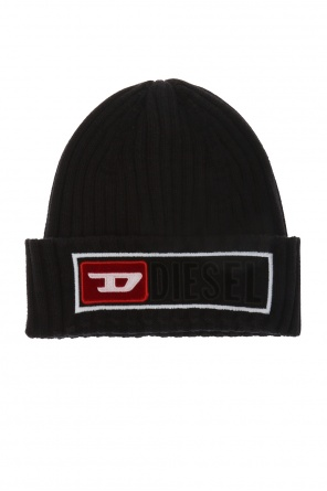 Patched ribbed hat od Diesel