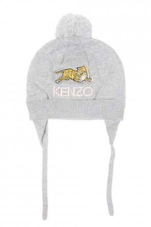 Hat with a pompom and earflaps od Kenzo Kids