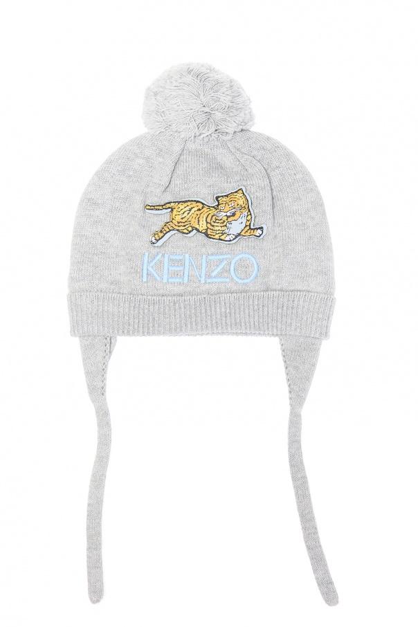 4bbf288f491 Hat with a pompom and earflaps Kenzo Kids - Vitkac shop online