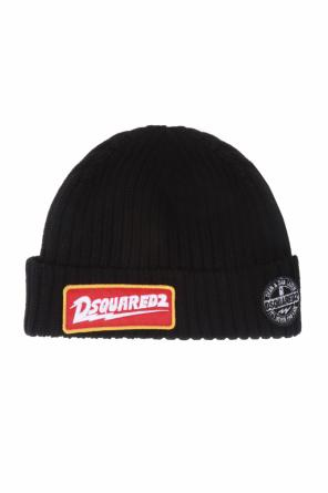 Ribbed hat with logo patch od Dsquared2