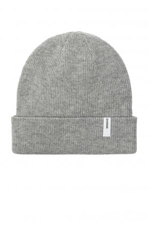 Rib-knit hat with logo od Samsøe Samsøe