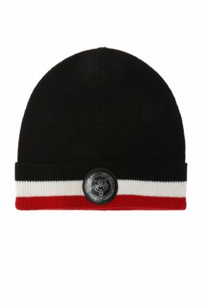 Hat with applications and a logo od Plein Sport