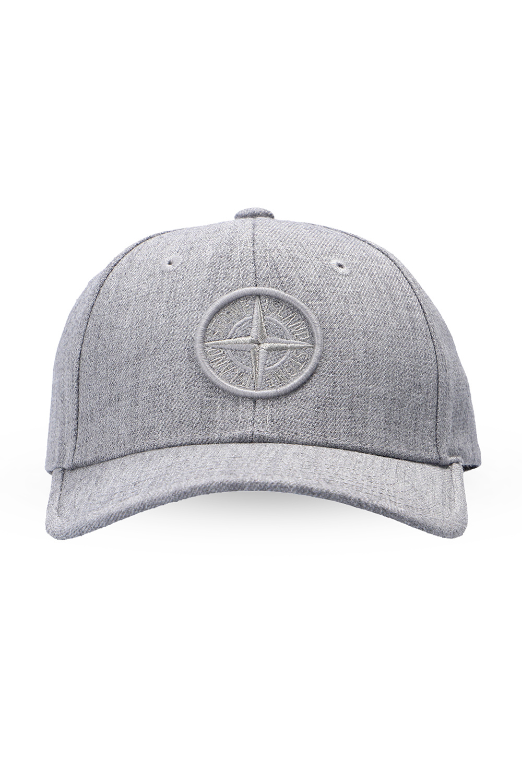 Stone Island Kids Baseball cap with logo