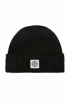 Woven hat with a logo od Stone Island