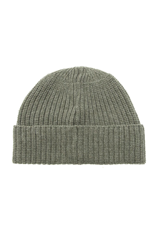 Stone Island Wełniana czapka z logo