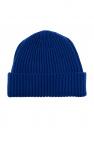 Stone Island Kids Wool hat with logo