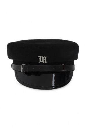 Leather hat with logo od MISBHV