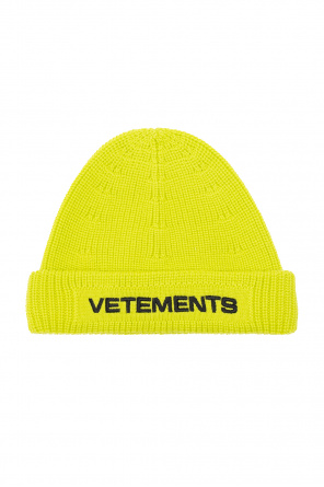 Rib-knit hat with logo od VETEMENTS