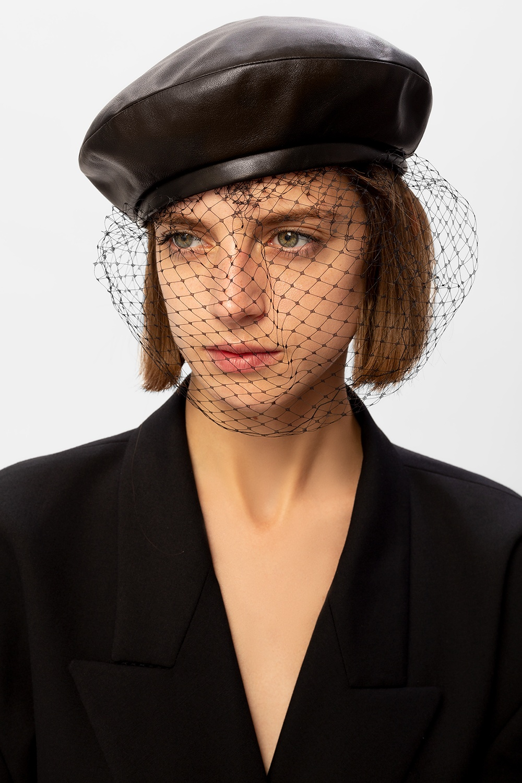 Balmain Skórzana czapka