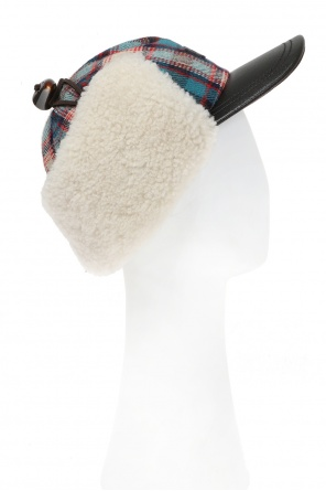 Baseball cap with fur ear flaps od Dsquared2