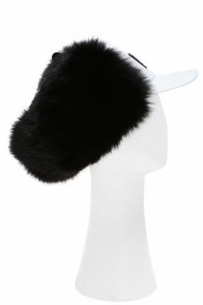 Fox fur-trimmed baseball cap od Dsquared2