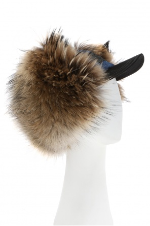 Raccoon fur-trimmed peaked hat od Dsquared2