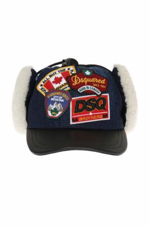 Fur-trimmed baseball cap od Dsquared2