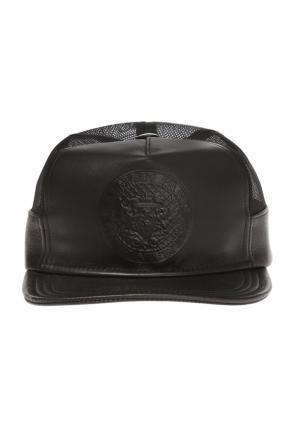 Leather baseball cap od Balmain