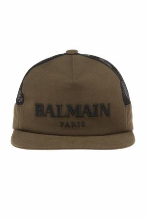 Baseball cap with an embroidered logo od Balmain