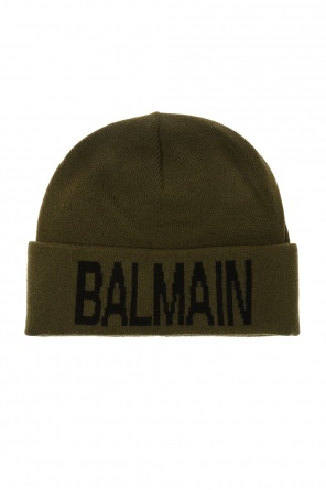Logo-embroidered hat od Balmain