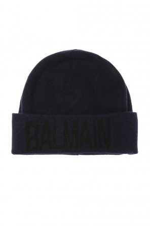 Hat with embroidered logo od Balmain
