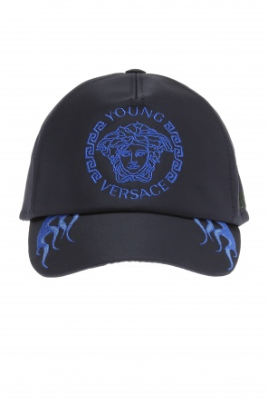 Logo-stitched baseball cap od Versace Young