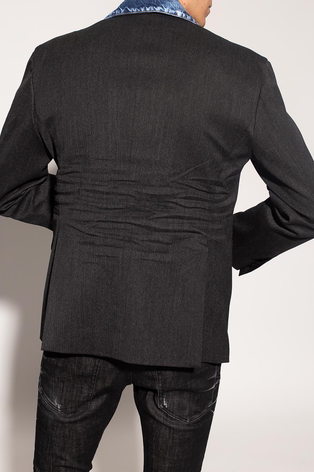 Dsquared2 Blazer with denim trim