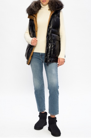 Quilted down vest with hood od Yves Salomon