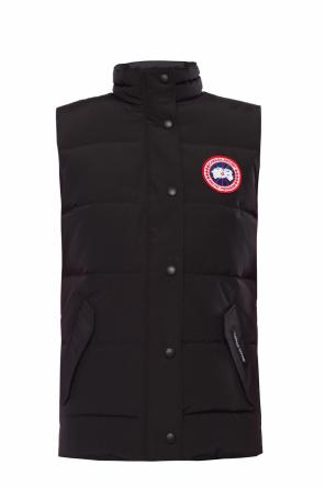 Branded quilted down vest od Canada Goose