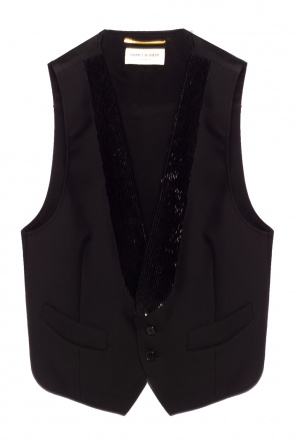 Beaded vest od Saint Laurent