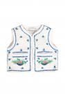 Stella McCartney Kids Floral-embroidered vest