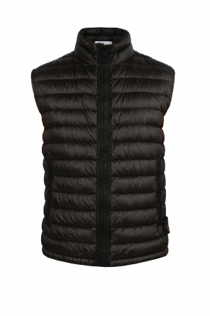 Logo quilted vest od Stone Island