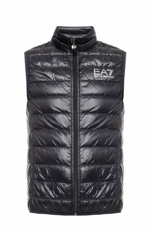 Quilted vest with a logo od EA7 Emporio Armani