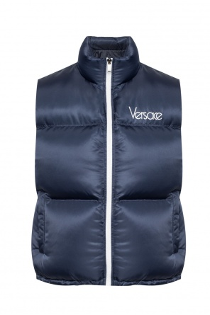 Quilted vest with logo od Versace