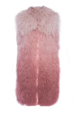 Long vest with fur front od Moncler