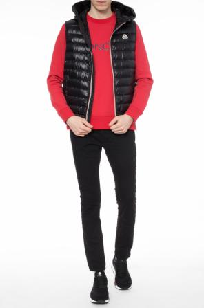 Hooded quilted down vest od Moncler