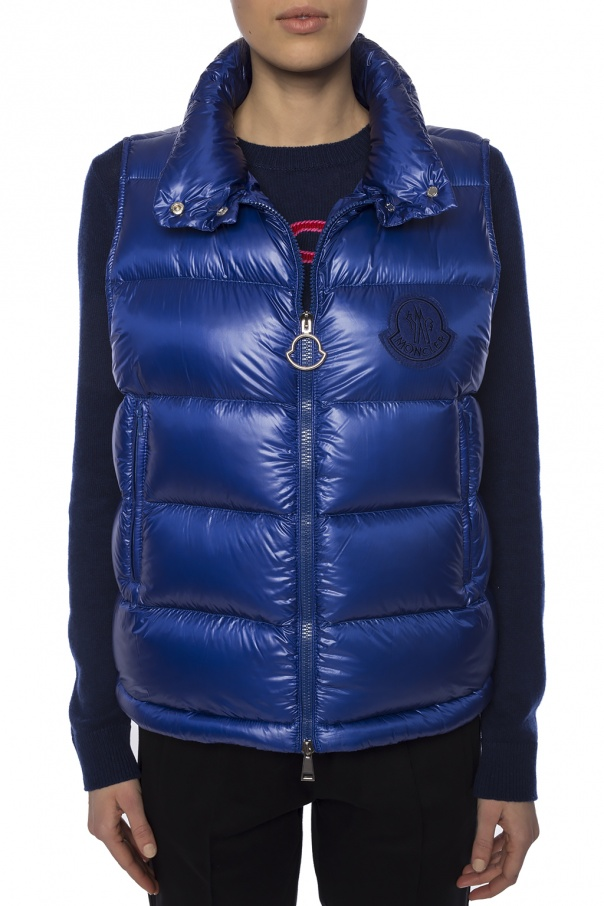 'helsinki' quilted down vest with logo od Moncler