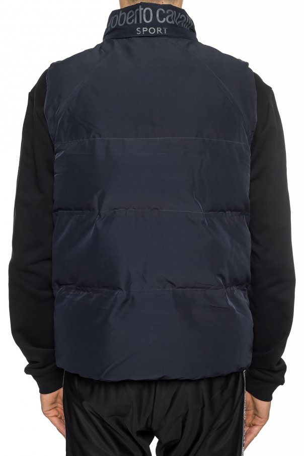 Quilted vest with logo od Roberto Cavalli Sport