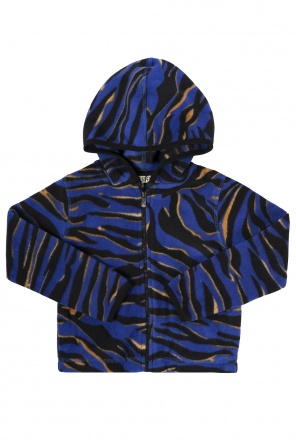 Patterned fleece sweatshirt od Kenzo Kids
