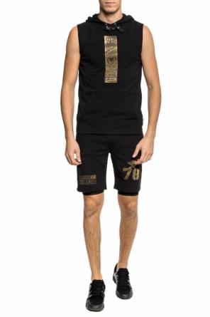 Appliqued sleeveless sweatshirt od Plein Sport