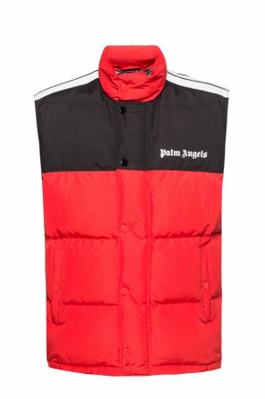 Quilted down vest with logo od Palm Angels