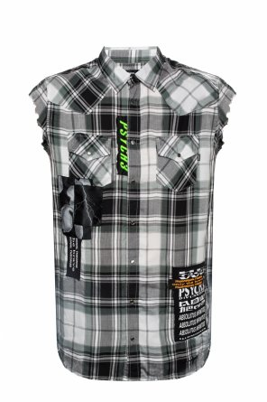 7f29fd76 Sleeveless check shirt od Diesel Sleeveless check shirt od Diesel quick-view
