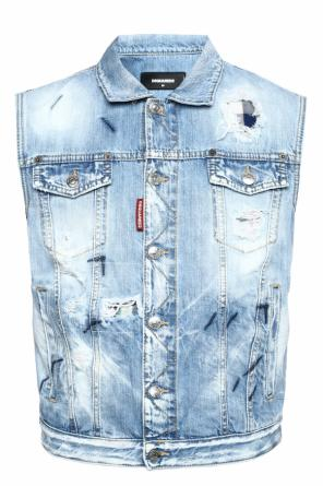 Denim vest with holes od Dsquared2