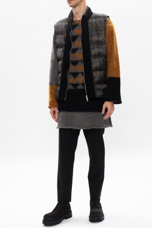 Hooded wool vest od Undercover