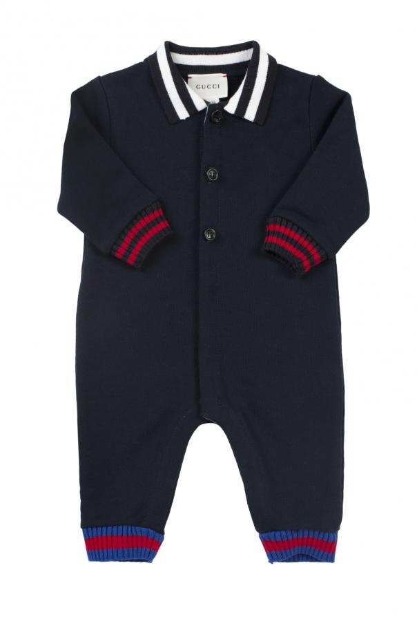 Body z paskiem 'web' od Gucci Kids