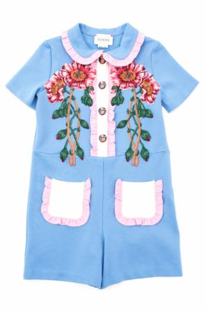 Embroidered jumpsuit od Gucci Kids