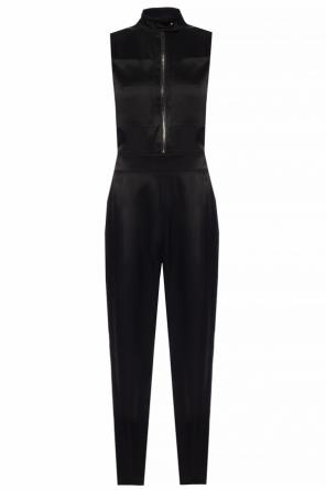 Jumpsuit with a stand-up collar od Burberry