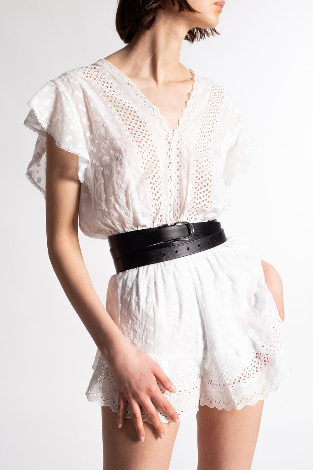 Isabel Marant Etoile Openwork jumpsuit with short sleeves