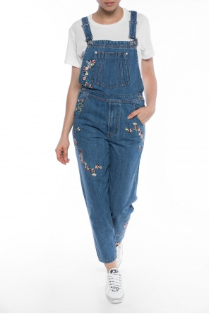 Embroidered denim dungarees od Diesel